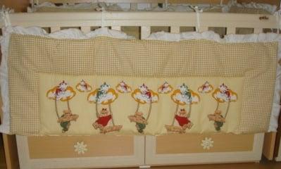 Олекотен комплект за детска кошара със страници мечета ЛЮЛКА