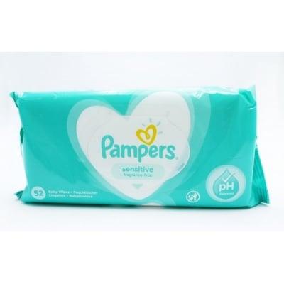 Pampers-мокри кърпи Sensitive 52бр