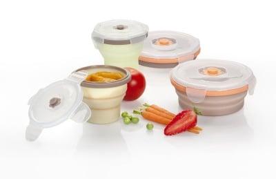 Комплект 4бр силиконови контейнери за храна