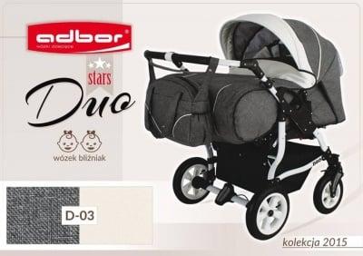 Adbor-Бебешка количка за близнаци Duo Stars цвят:D03