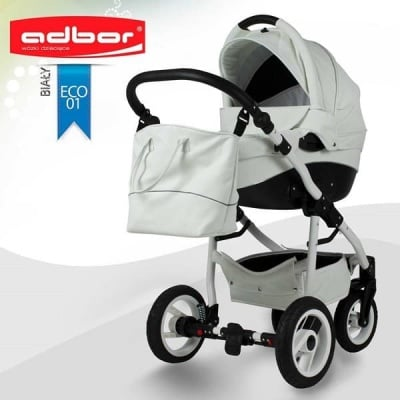 Adbor-Бебешка количка 3в1 Nemo Exclusive цвят: бял