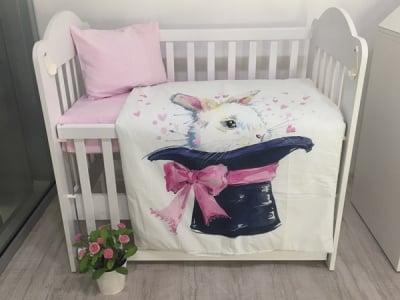 Galix-олекотен спален комплект 4ч Зайче-вълшебник