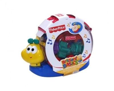 Детска музикална играчка охлюв Fisher Price 6м+