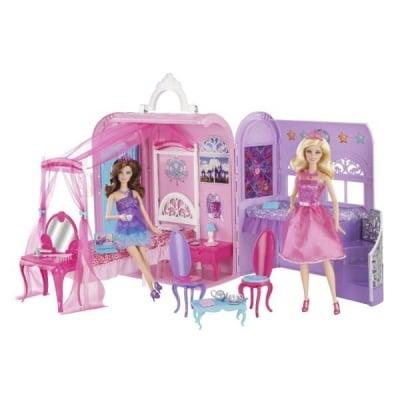 Детска къща на Барби Кралско легло с баня 3г+