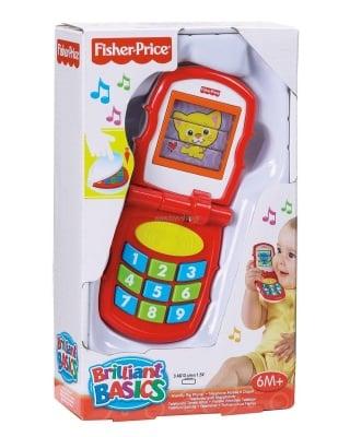 Бебешка играчка музикално телефонче Fisher price