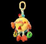 Бебешка играчка Пиле с клипс