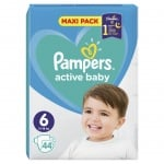 Pampers Active baby Extra large6 13-18кг 44бр