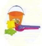 Детска кофичка с лопатки и формички 5025
