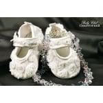 Бебешки балеринки с цветя