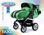 Бебешка количка за близнаци Duo цвят: розови цветя
