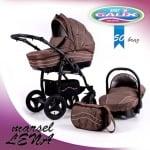 Бебешка комбинирана количка Marsel 3 in 1 Len