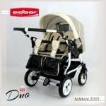 Adbor-Бебешка количка за близнаци Duo Stars цвят:D01