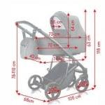 Milu Kids-Бебешка количка 2в1 Atteso:20