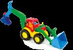 Детска играчка булдозер с гребло 3г+ 10006